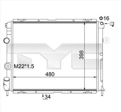 Radiateur, refroidissement du moteur - TCE - 99-728-0012-R
