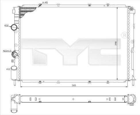 Radiateur, refroidissement du moteur - TCE - 99-728-0025-R
