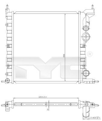 Radiateur, refroidissement du moteur - TYC - 728-0030