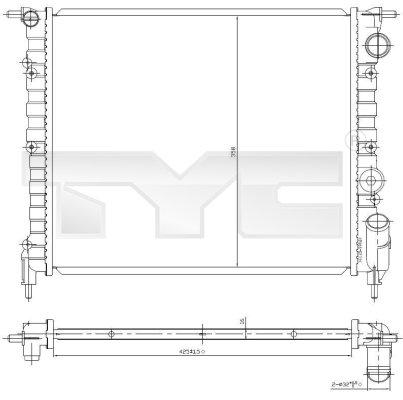 Radiateur, refroidissement du moteur - TYC - 728-0031
