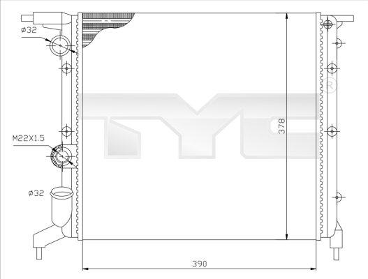 Radiateur, refroidissement du moteur - TCE - 99-728-0032
