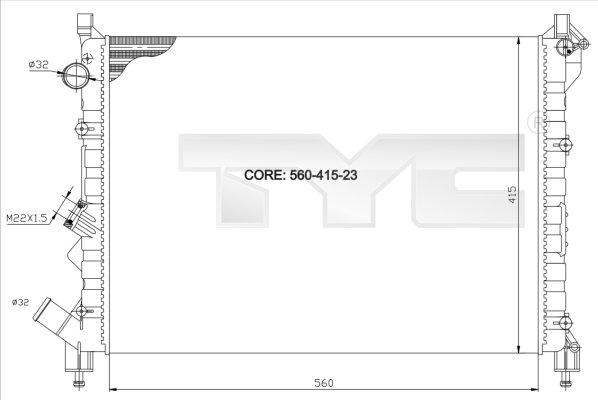 Radiateur, refroidissement du moteur - TCE - 99-728-0036