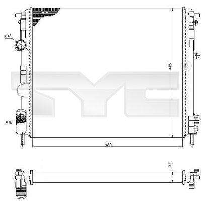 Radiateur, refroidissement du moteur - TCE - 99-728-0053