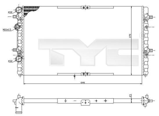 Radiateur, refroidissement du moteur - TCE - 99-731-0002