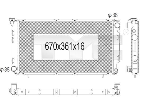 Radiateur, refroidissement du moteur - TYC - 734-1002