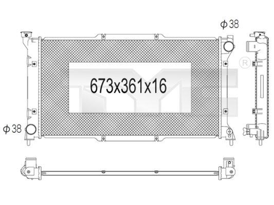 Radiateur, refroidissement du moteur - TYC - 734-1003