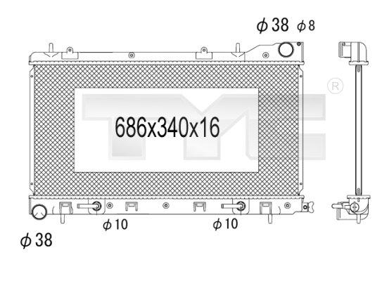 Radiateur, refroidissement du moteur - TYC - 734-1004