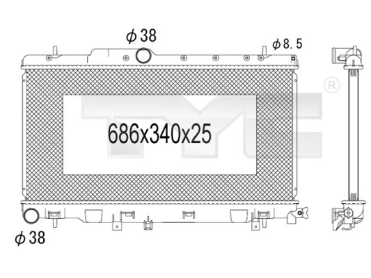 Radiateur, refroidissement du moteur - TYC - 734-1005