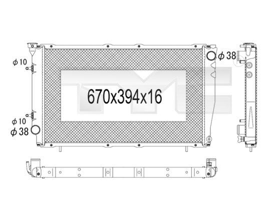 Radiateur, refroidissement du moteur - TCE - 99-734-1006