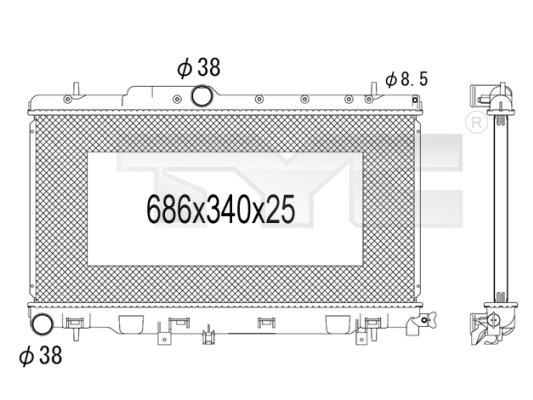 Radiateur, refroidissement du moteur - TYC - 734-1008