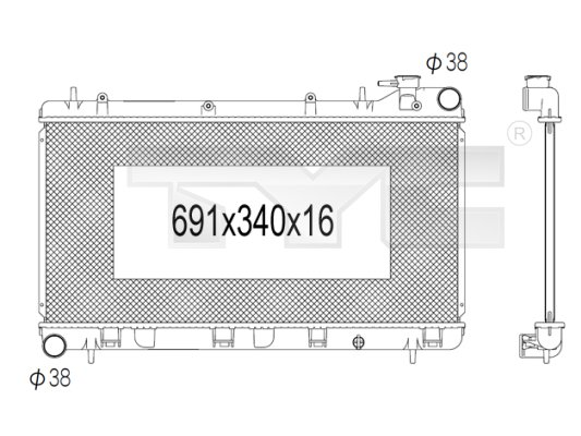 Radiateur, refroidissement du moteur - TCE - 99-734-1009