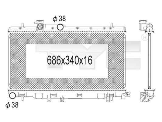 Radiateur, refroidissement du moteur - TCE - 99-734-1010