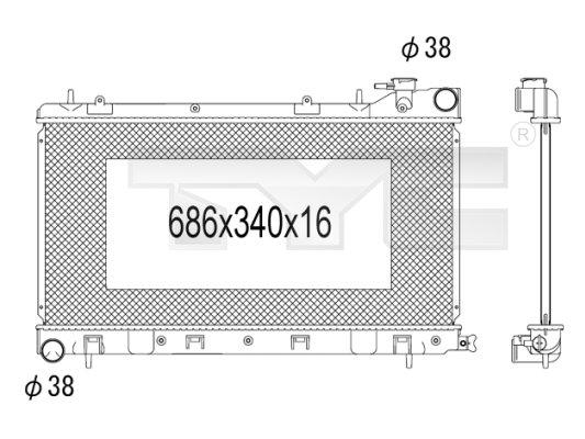 Radiateur, refroidissement du moteur - TCE - 99-734-1011