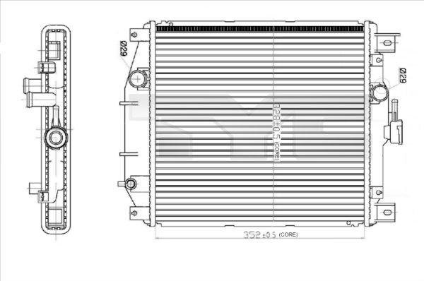 Radiateur, refroidissement du moteur - TYC - 735-0012