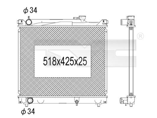 Radiateur, refroidissement du moteur - TYC - 735-1001