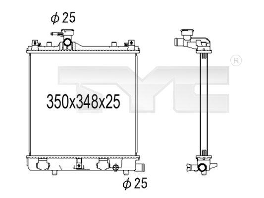 Radiateur, refroidissement du moteur - TYC - 735-1002