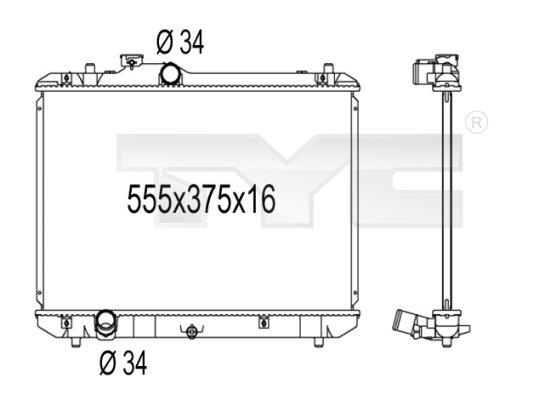 Radiateur, refroidissement du moteur - TYC - 735-1003