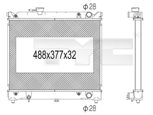 Radiateur, refroidissement du moteur - TCE - 99-735-1004