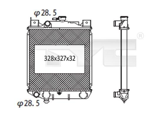 Radiateur, refroidissement du moteur - TYC - 735-1005