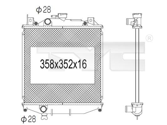 Radiateur, refroidissement du moteur - TCE - 99-735-1006