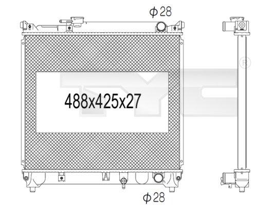 Radiateur, refroidissement du moteur - TYC - 735-1007
