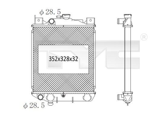 Radiateur, refroidissement du moteur - TYC - 735-1008