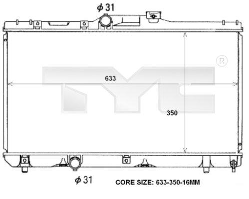 Radiateur, refroidissement du moteur - TCE - 99-736-0047