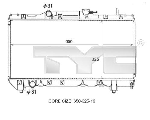 Radiateur, refroidissement du moteur - TCE - 99-736-0097