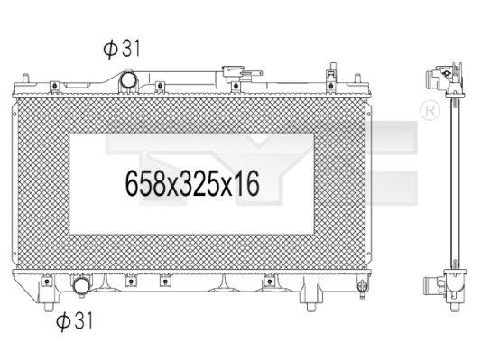 Radiateur, refroidissement du moteur - TYC - 736-1003