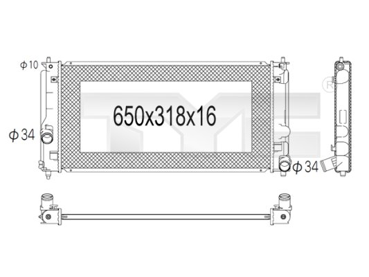 Radiateur, refroidissement du moteur - TYC - 736-1006