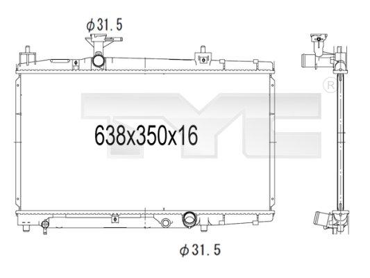 Radiateur, refroidissement du moteur - TCE - 99-736-1010