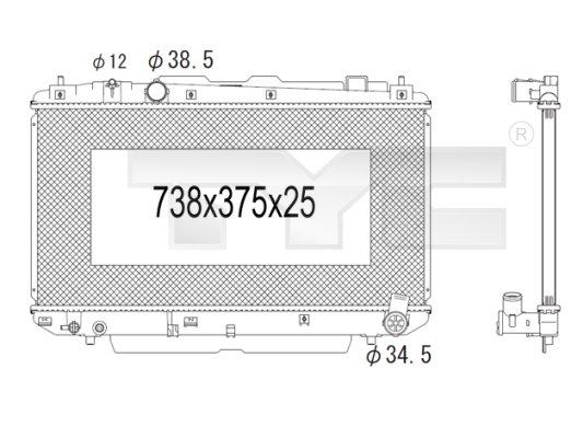 Radiateur, refroidissement du moteur - TYC - 736-1011