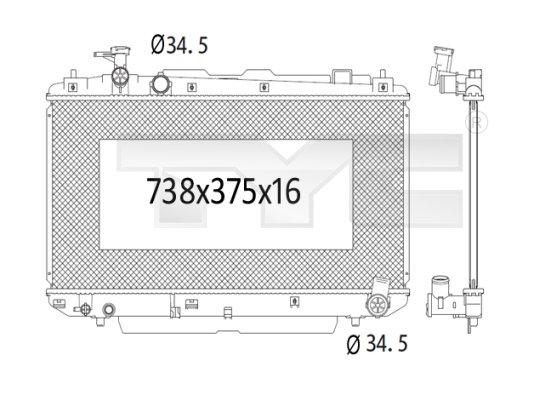 Radiateur, refroidissement du moteur - TCE - 99-736-1012
