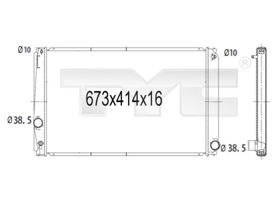 Radiateur, refroidissement du moteur - TYC - 736-1015
