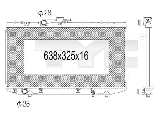 Radiateur, refroidissement du moteur - TYC - 736-1016