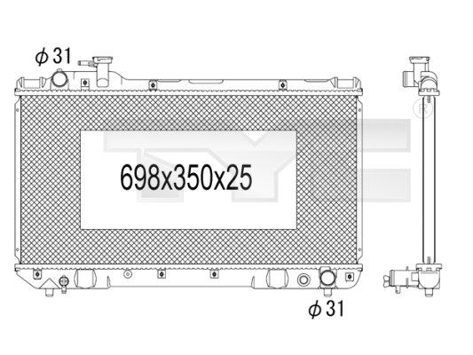 Radiateur, refroidissement du moteur - TCE - 99-736-1017