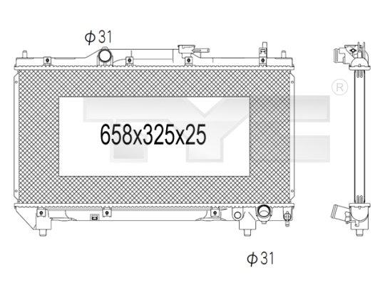 Radiateur, refroidissement du moteur - TYC - 736-1019
