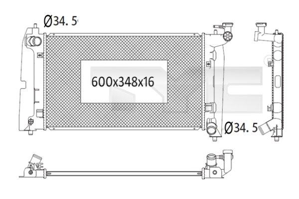 Radiateur, refroidissement du moteur - TYC - 736-1020