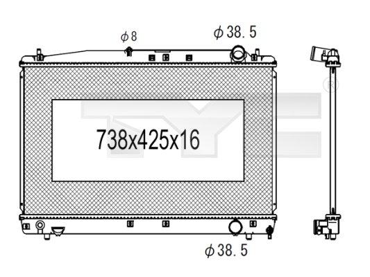 Radiateur, refroidissement du moteur - TCE - 99-736-1022