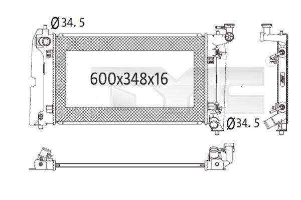Radiateur, refroidissement du moteur - TYC - 736-1024