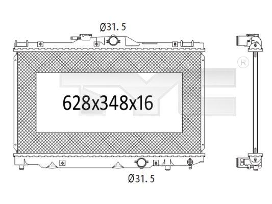 Radiateur, refroidissement du moteur - TCE - 99-736-1025