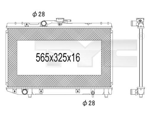 Radiateur, refroidissement du moteur - TCE - 99-736-1026