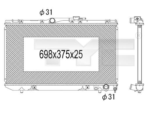 Radiateur, refroidissement du moteur - TYC - 736-1027