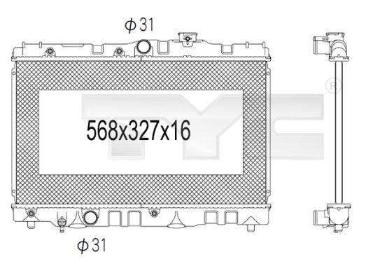 Radiateur, refroidissement du moteur - TCE - 99-736-1028