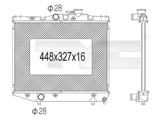 Radiateur, refroidissement du moteur - TYC - 736-1029
