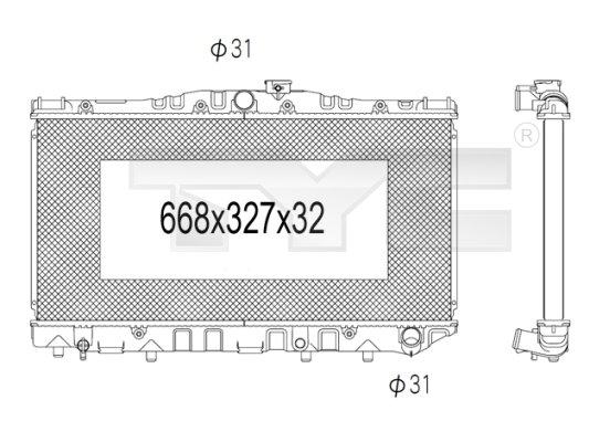 Radiateur, refroidissement du moteur - TYC - 736-1030