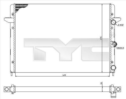 Radiateur, refroidissement du moteur - TYC - 737-0005