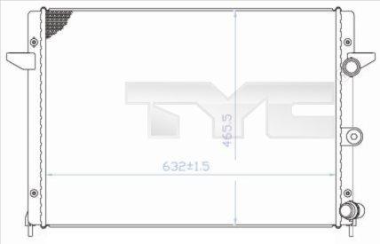 Radiateur, refroidissement du moteur - TYC - 737-0006
