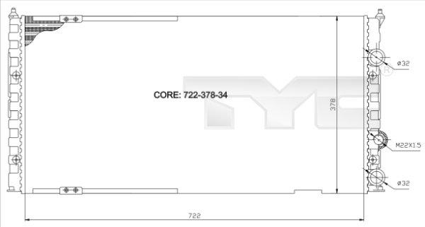 Radiateur, refroidissement du moteur - TCE - 99-737-0011