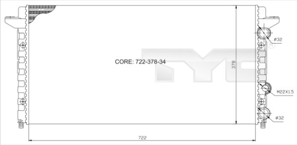 Radiateur, refroidissement du moteur - TYC - 737-0012